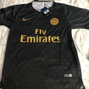 newest 830c2 44672 Black and Gold PSG Training Jersey NWT
